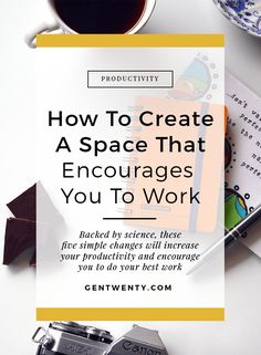 Business and management infographic & data visualisation five ways your work space impacts your productivity and what you can do to fix i. Work Productivity, Increase Productivity, Job Work, How To Stop Procrastinating, Study Space, You Better Work, Time Management Tips, College Hacks, Work From Home Moms