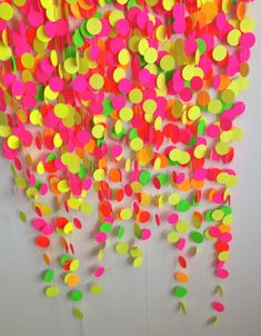 Photo Booth Backdrop, Deluxe Neon Party Package, Paper Garlands, party decorations