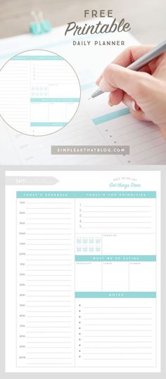Here's your secret weapon for staying on top of a busy life! This FREE Printable daily planner, weekly to-do list and meal planner will help you stay organized and productive once and for all!