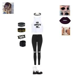 """""""Date with Luke"""" by jozie-da-turtle ❤ liked on Polyvore featuring Topshop, Lime Crime, Dr. Martens, Humble Chic and Saachi"""