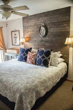 Beautiful headboard idea.