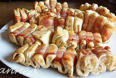 Speckfalten mit Röstzwiebeln und Bacon