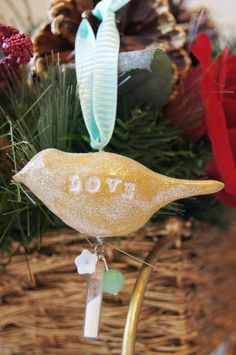 Clay Bird Ornaments - Hang some on your tree and give them as a gift. Best of all, you can personalize this Christmas ornament craft!