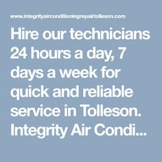 Hire our technicians 24 hours a day, 7 days a week for quick and reliable service in Tolleson. Integrity Air Conditioning Repair Tolleson includes all heating & air conditioning repair services you ask for. #ACRepairTolleson #ACRepairTollesonAZ #AirConditioningRepairTolleson #AirConditioningRepairTollesonAZ #TollesonACRepair