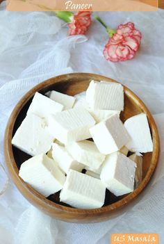 A recipe for homemade paneer, an Indian fresh cheese.
