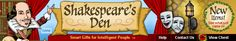 Shakespeare and Theatre Gifts- all kinds of Shakespeare stuff. Nifty!!!
