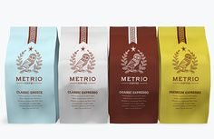 neat coffee packaging // by Robinsson Cravents