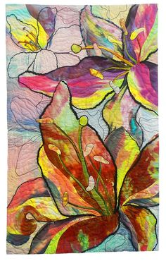 """Contagious (40"""" x 24""""), Lin Hsin-Chen.  Viewpoints 9 art quilt challenge."""
