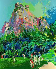 LeRoy Neiman, International Golf Foursome, Serigraph on Paper, Limited Edition
