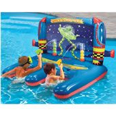 The Inflatable Water Shooting Float features a fun game that involves skill. It is an inflatable carnival shooting game setup with two cylinders. Maldives Vacation, Maldives Resort, Water Shoot, Pool Games, Pool Toys, Floating In Water, Water Toys, Carnival Games, Cool Pools