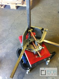 1508 design's new toy...oops I mean tool. Our new 3 axis welding clamp!