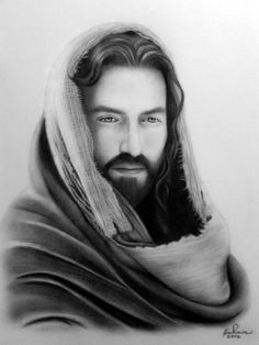 Jesus Christ (Existence) by RichmonDeLeon on DeviantArt Jesus Christ Drawing, Jesus Drawings, Jesus Art, Christian Artwork, Christian Images, Jesus Our Savior, Jesus Is Lord, Christ Tattoo, Jesus Photo