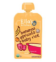 Fruit + baby rice in one pouch! Hooray!!! Twist off the cap and either let your little one slurp it down or pop it onto a spoon. We make meal time easy-peasy!