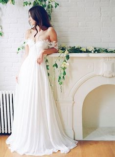 Long Wedding Dress, Chiffon Wedding Dress, A-Line Bridal Dress, Off-Shoulder Wedding Dress, Lace Wedding Dress, Backless Wedding Dress, Beach Wedding Dress, LB0457 The wedding dresses are fully lined, 4 bones in the bodice, chest pad in the bust, lace up back or zipper back are all available,. This dress could be custom made, there are no extra cost to do custom size and color. Description 1, Material: lace, chiffon, elastic satin, pongee 2, Color: picture color or other colors, there are…