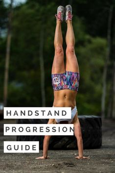 Your Guide to Handstand Progressions - WOD Nation - A community for CrossFit ath. Handstand Pushup Progression, Handstand Training, Handstand Challenge, Press Handstand, Kettlebell Training, Workout Kettlebell, Wall Handstand, Kettlebell Benefits, Handstand