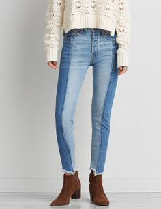 American eagle two tone jeans