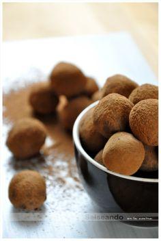 Salseando en la cocina: Trufas de chocolate (fórmula pastelera)