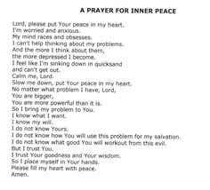 prayers for inner peace - Google Search