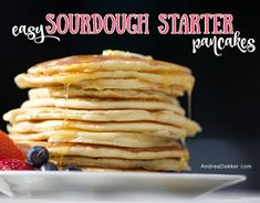 If you're looking for a super simple recipe to use up a bunch of extra sourdough starter, today's recipe for sourdough starter pancakes is the one for you! Making Sourdough Bread, Sourdough Pancakes, Oat Pancakes, Sourdough Recipes, Pancakes Easy, Pancake Recipes, Cinnamon Roll Bread, How To Make Pancakes, Barbecue Recipes