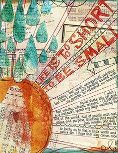 Digital art journal layout from Melita Bloomer  I feel small, via Flickr.