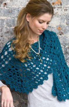 Free Crochet Pattern: Easy Dreamy Shawl. Uses Only Two Balls Of Yarn! From www.allfreecrochet.com