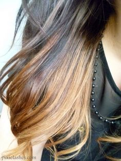 Think I'm doing this to my hair today. Since I can't decide if I want blonde or my natural color.... why not both?