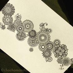 CHACHA Mandala My new flowers! #曼荼羅 #マンダラ #絵 #手書き #handpainted #イラスト #drawing #mandala #mandalas #mandalaart #mandaladrawing #mandalaartist #blackandwhite #black #blackpen #黒 #zentangle #zentangleinspiredart #zentangleart #禅 #flower #flowers #花 #chachamandala #ゼンタングル #ゼンタングルアート #blackmandala #beautiful_mandalas #stunning_artwork