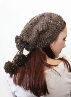 Knot*Sew*Cute - - Drawstring Slouch (crochet)