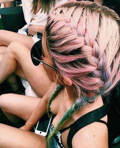 Image about hair in Jenner/ Kardashian by Kidrauhl Summer Hairstyles, Pretty Hairstyles, Braided Hairstyles, Hair Colorful, Big Chop, Dye My Hair, About Hair, Gorgeous Hair, Hair Looks