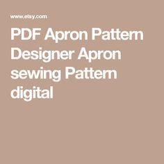 PDF Apron Pattern Designer Apron sewing Pattern digital