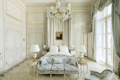 Ritz Paris Paris, France home Architecture living room window treatment Bedroom bed frame curtain molding column Suite house decor interior designer Hotel Paris, Paris Hotels, The Ritz Paris, Paris Paris, My French Country Home, Country Style, French Cottage, Country Decor, Beautiful Paris