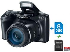 """Câmera Digital SemiProfissional Canon SX400IS - 16.0MP LCD 3"""" Zoom Óptico 30x + Cartão 32GB com as melhores condições você encontra no Magazine Fernandes2. Confira!"""