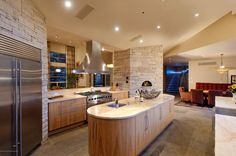 Love this modern kitchen located in Aspen, Colorado