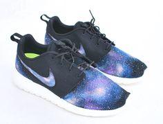 Custom Nike Roshe Run - Hand Painted Galaxy Sneakers