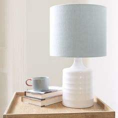 Tipsy - roll your-sleeves up, old school ceramics time. Choice of four linen lampshades included. | Loaf
