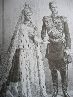 Ella and Sergei on their wedding day