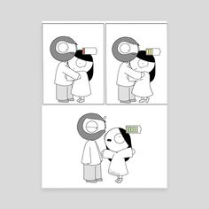 Charge your Girlfriend an art print by Catana Chetwynd - Relationship Funny - The post Charge your Girlfriend an art print by Catana Chetwynd appeared first on Gag Dad. Cute Couple Comics, Couples Comics, Comics Love, Couple Cartoon, Funny Cartoons, Funny Comics, Relatable Crush Posts, Catana Chetwynd, Catana Comics