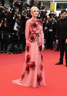 Kirsten Dunst in Gucci at the opening gala for the 69th annual Cannes Film Festival 2016: What Everyone Wore on the Red Carpet - Cannes Film Festival 2016: What Everyone Wore-Wmag