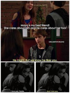 ~Girl Meets Texas Part 3 | farkle is so kind and wise at this part! ❤️ | ~follow me: Pinterest @gmeetsworld ~ |