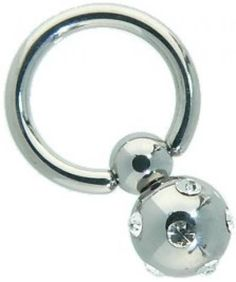 Gem Set Sparkle Bead Captive Bead Ring (s)