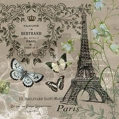 Vintage French Eiffel Tower Shower Curtain on http://CafePress.com