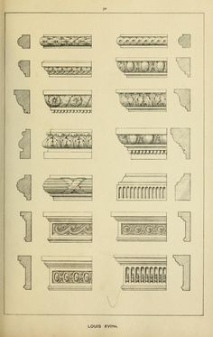 Elements of style in furniture and woodwork, be… - Wood Design Classic Architecture, Architecture Drawings, Architecture Details, Der Ludwig, Ludwig Xiv, Furniture Styles, Furniture Design, Plywood Furniture, Luis Xvi