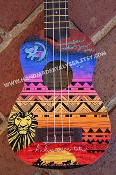 Personalizado pintado ukelele por HandmadebyAlyssa en Etsy