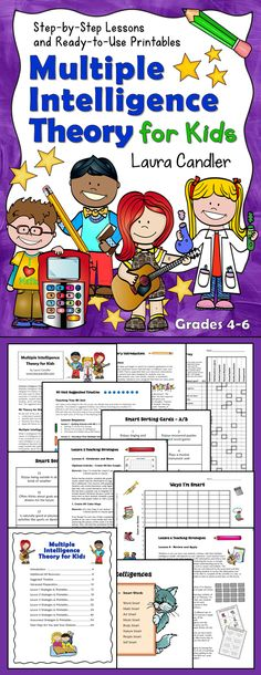 Multiple Intelligence Theory for Kids: Step-by-step Lessons and Ready-to-Use Printables - How many ways are your students smart? This ebook includes cooperative learning activities, complete lesson plans, a student survey, printables, assessments, and answer keys for teaching a unit on multiple intelligence theory. Created by Laura Candler for grades 4 through 6. $