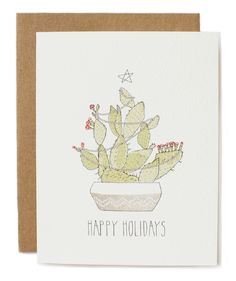 Holiday Cactus Card - Hartland Brooklyn - Stationery - Homeware