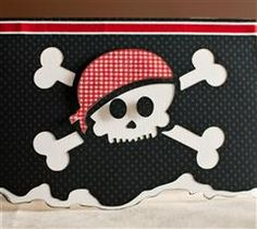 This pirate skull card would make a great party invitation or birthday card!