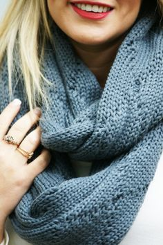Apple Picking Infinity Scarf