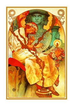 The Slavic Epic by Alphonse Mucha Counted Cross Stitch or Counted Needlepoint Pattern