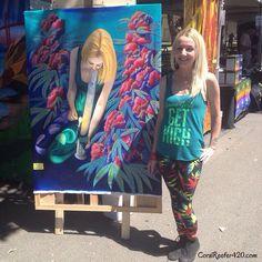 Cannabis art @coralreefer420