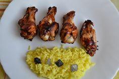 Mi Diversión en la cocina: Alitas de Pollo con Salsa de Soja Miel y Limón con guarnición de Arroz